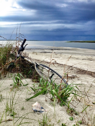 Bike, Beach, Shells, Ocean, Seabrook Island